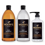 Woody's BIG Kit (Daily Shampoo+Conditioner+Styling Gel)