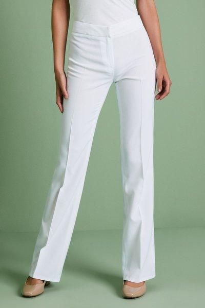 Simon Jersey Ladies Parallel Leg Trousers Beige